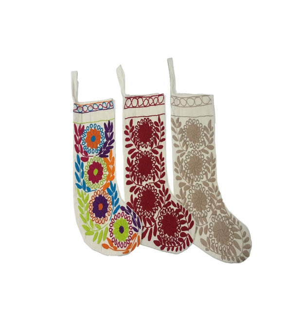 Stocking- Chiapas - Two Embroidery Options