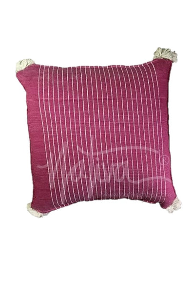 Pillow- Woven with Pom Pom - Multiple Color Options