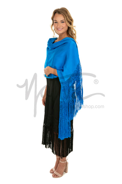 Chalina Rebozo in Turquoise