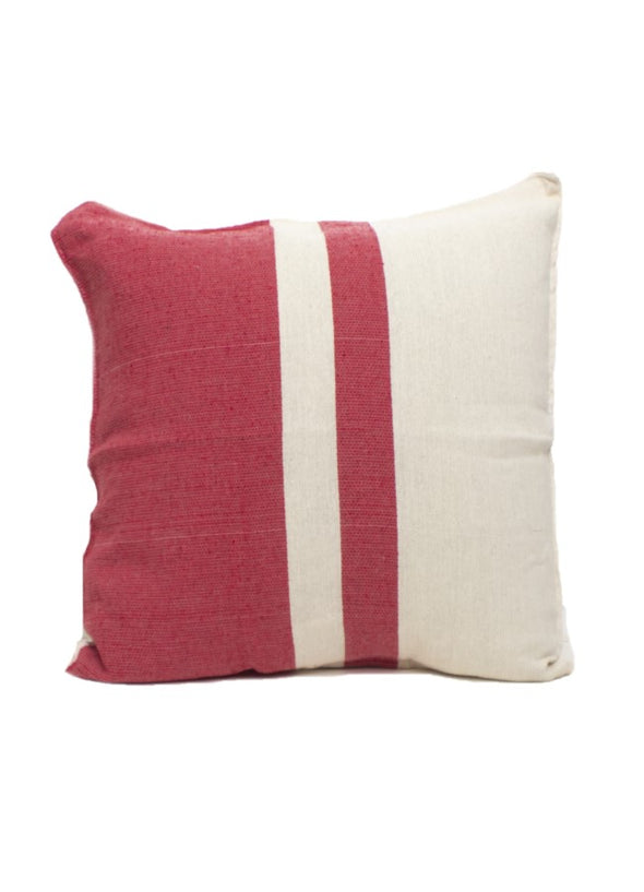 Pillow- Color Block Woven  - Red