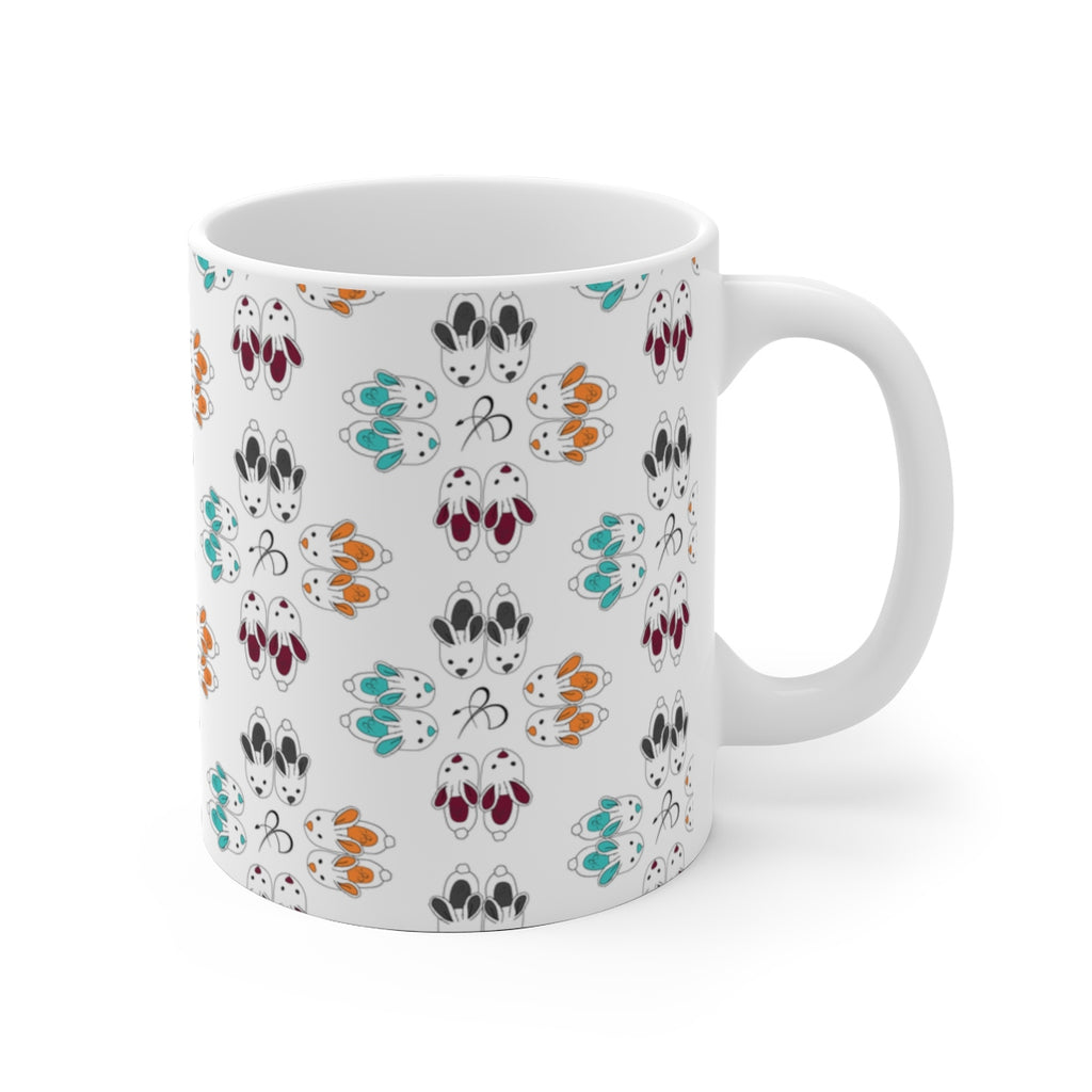 Bunny Slipper Kaleidoscope Mug
