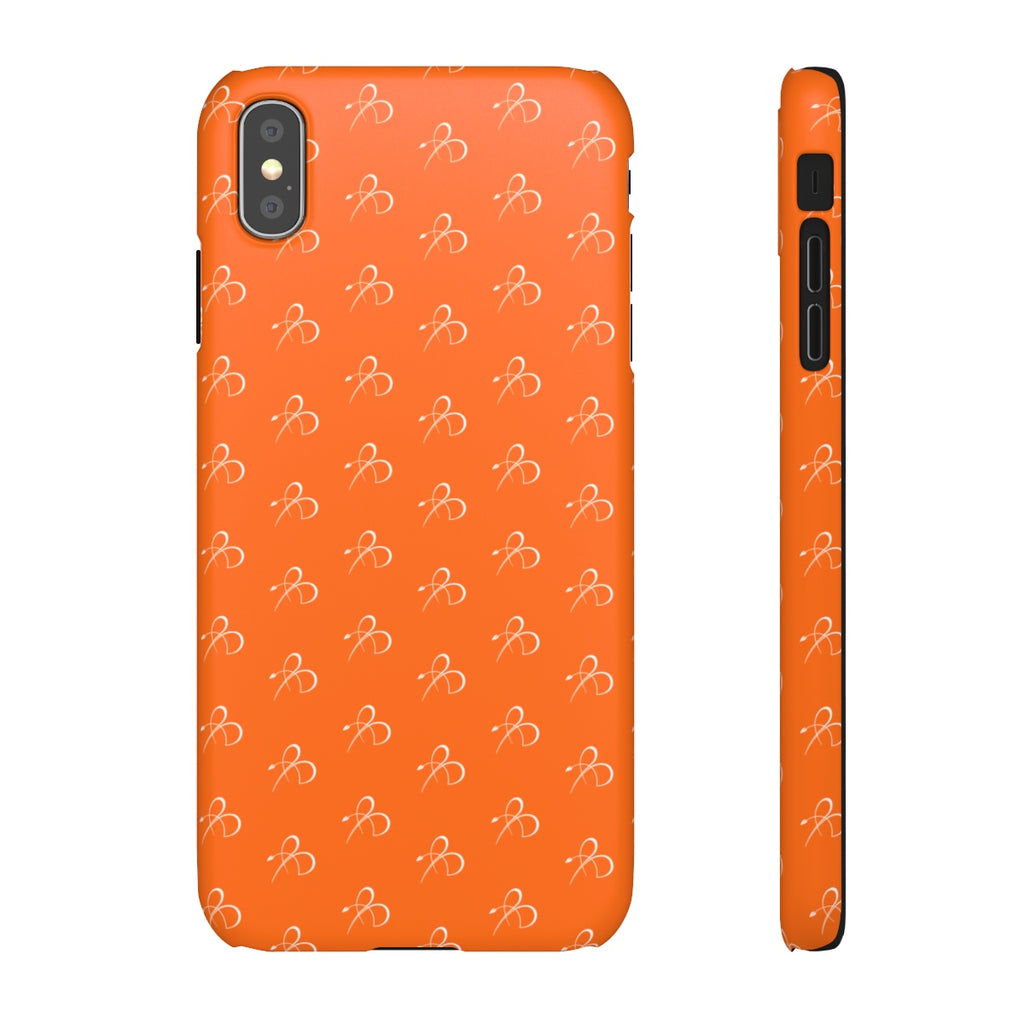 B Print Snap Phone Case - Orange