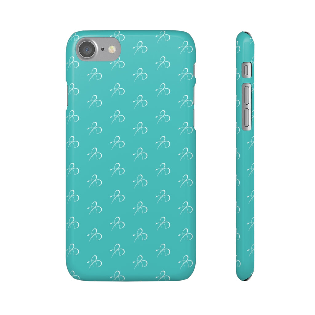 B Print Snap Phone Case - Teal