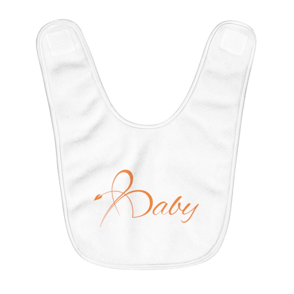 "Bright Line ""Baby"" Fleece Bib - Orange"