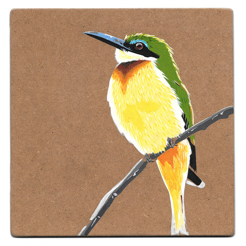 Little bee-eater acrylic painting