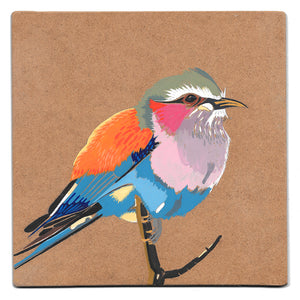 Lilac breasted roller acrylic painting