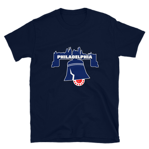 Philly Skyline Bell Basketball T-Shirt