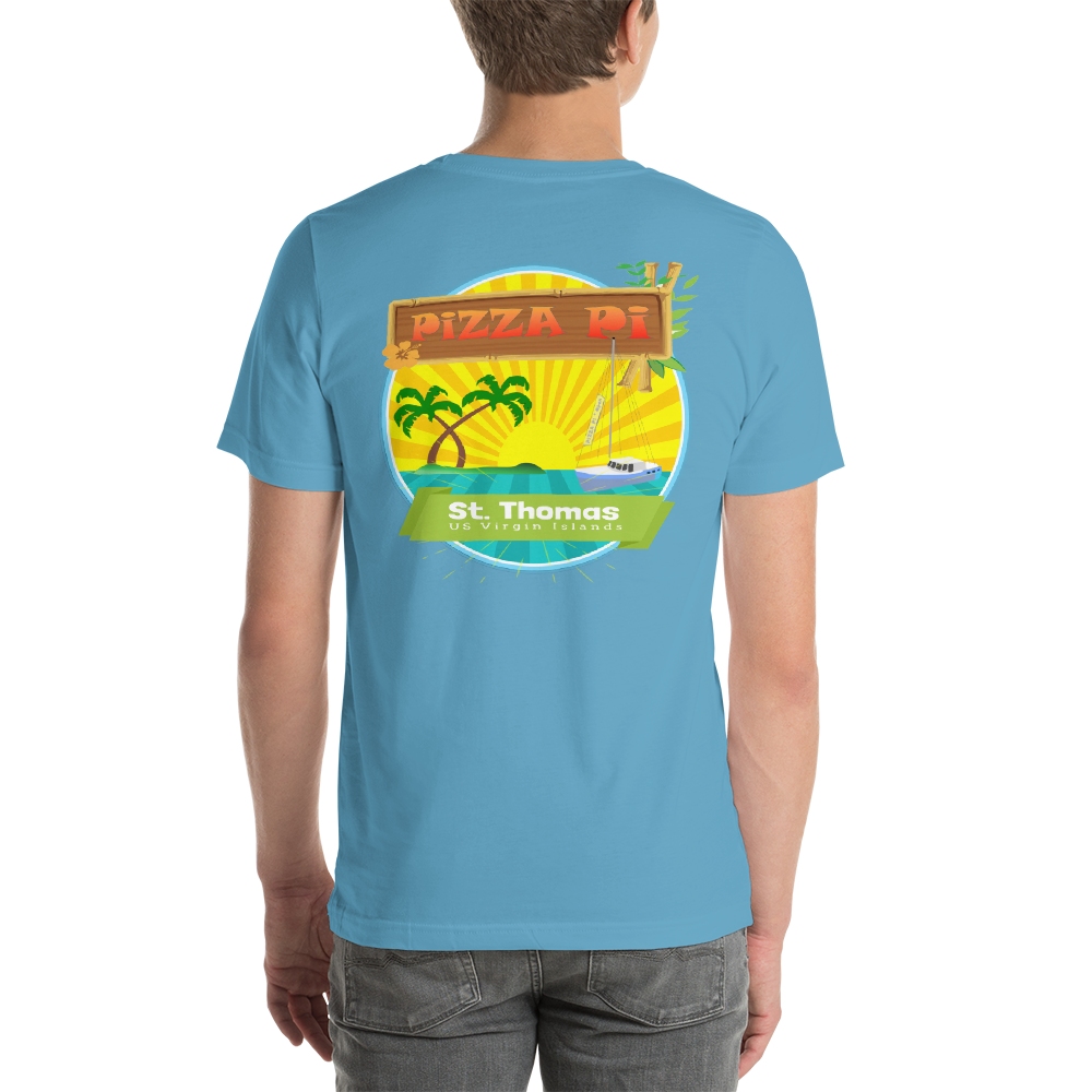 PiZZA Pi - Double Sided Short-Sleeve Unisex T-Shirt