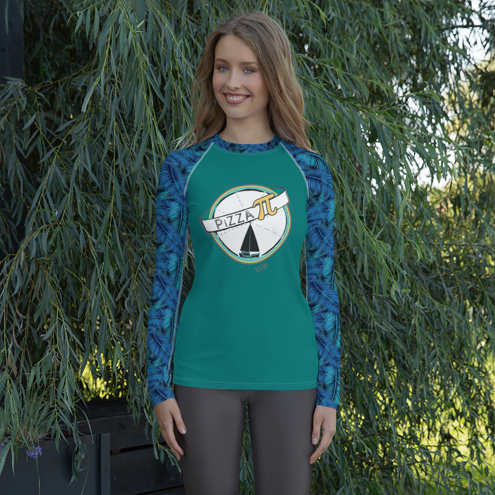 PiZZA Pi Women's Rash Guard
