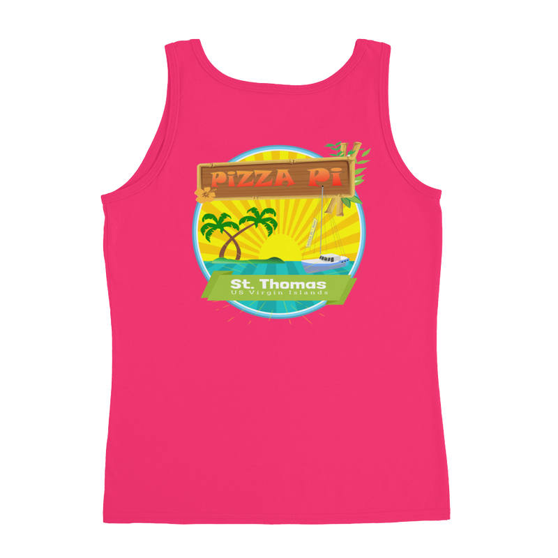 Pizza Pi - Sunset Ladies' Tank