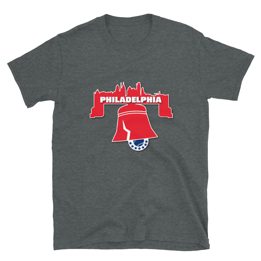 Philly Skyline Bell Baseball T-Shirt