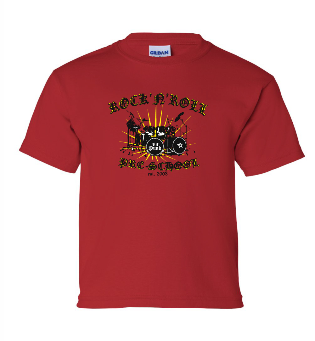 Rock-N-Roll-Pre-School-Youth-Red-Tee-Mock