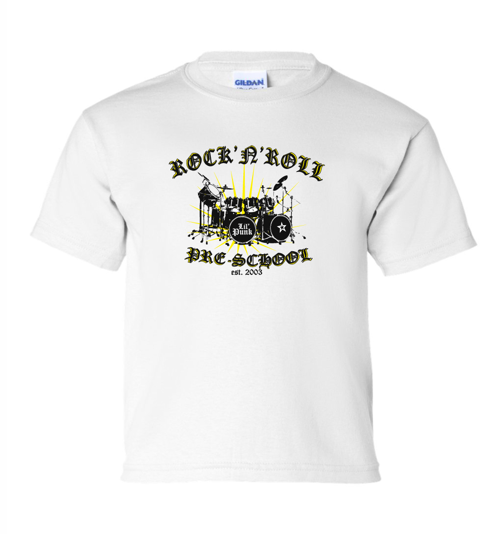 Rock-N-Roll-Pre-School-Youth-White-Tee-Mock