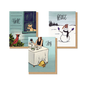 Holiday Mischief Greeting Cards Boxed Set of 9