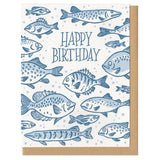 Happy Birthday Fish Greeting Card