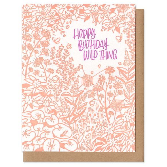 Greeting card and kraft paper envelope. Reads,