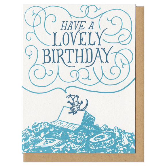 Have a Lovely Birthday Mouse Greeting Card