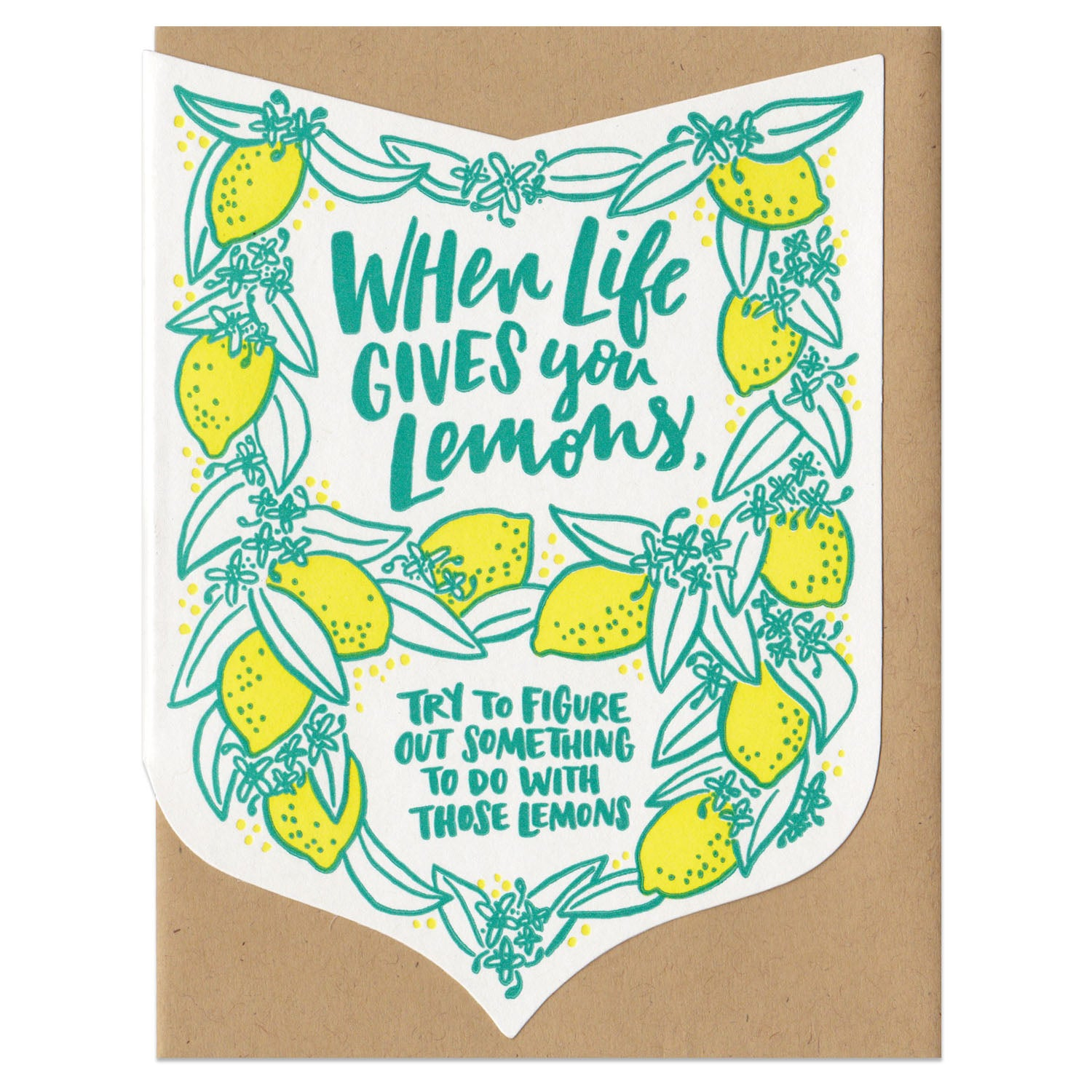 When Life Gives You Lemons Greeting Card Frog Toad Press