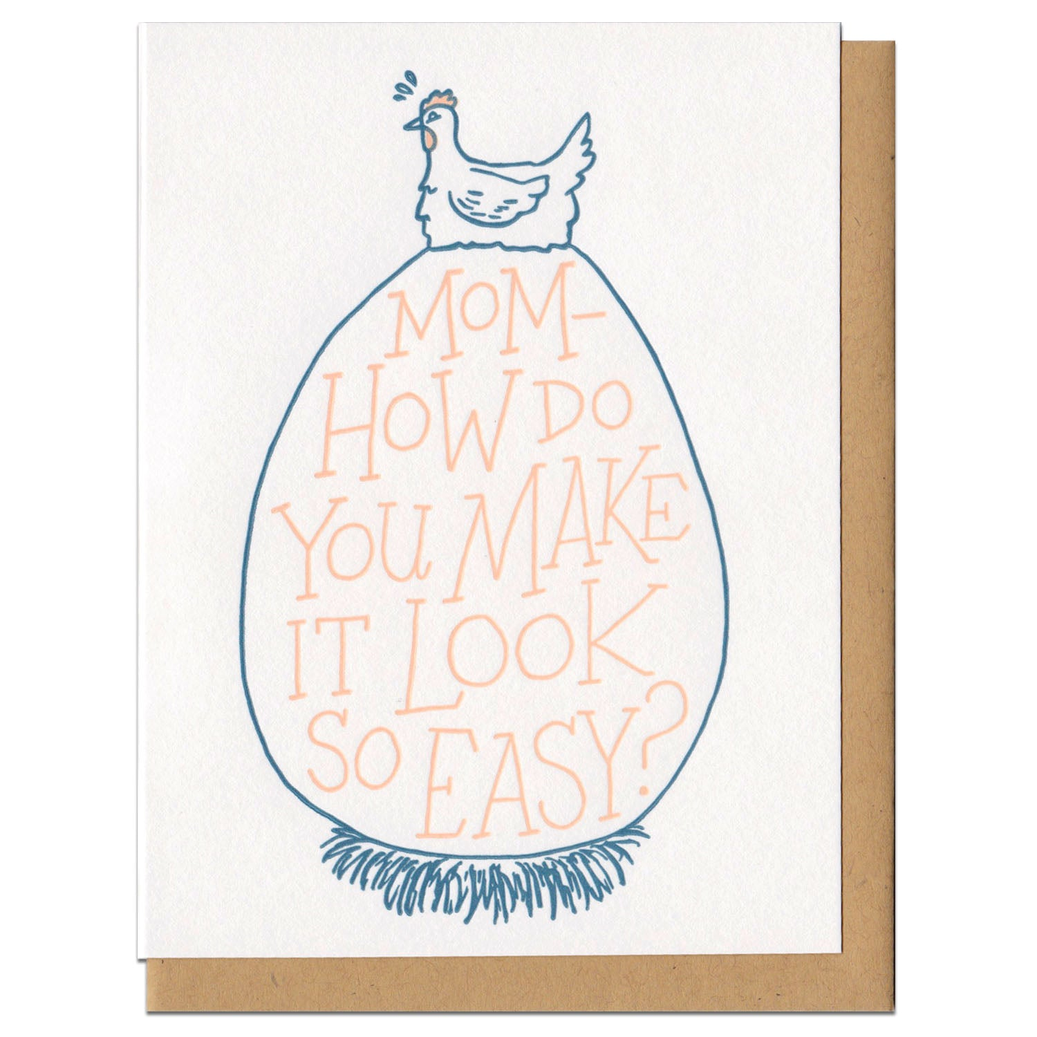 Mom How Do You Make It Look So Easy Greeting Card Frog Toad Press