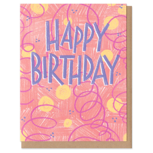 Colorful Classics Happy Birthday Greeting Card
