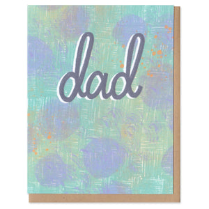 Colorful Classics Dad Greeting Card