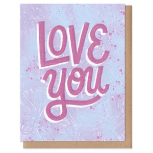 Colorful Classics Love You Greeting Card