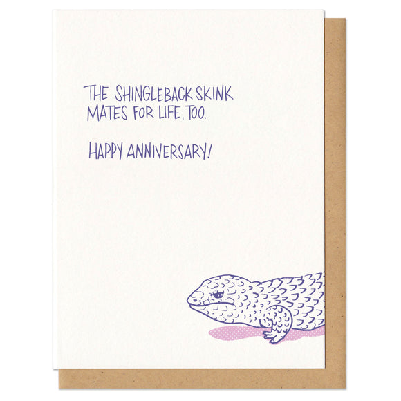 Happy Anniversary Shingleback Skink Greeting Card