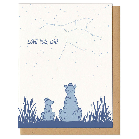 Love You Dad Constellation Bear Greeting Card