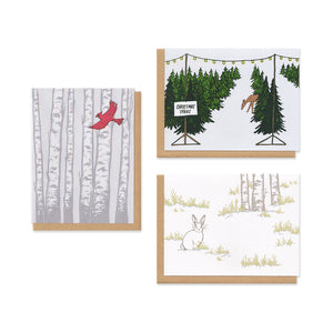 Holiday Patterns Greeting Cards Boxed Set of 9