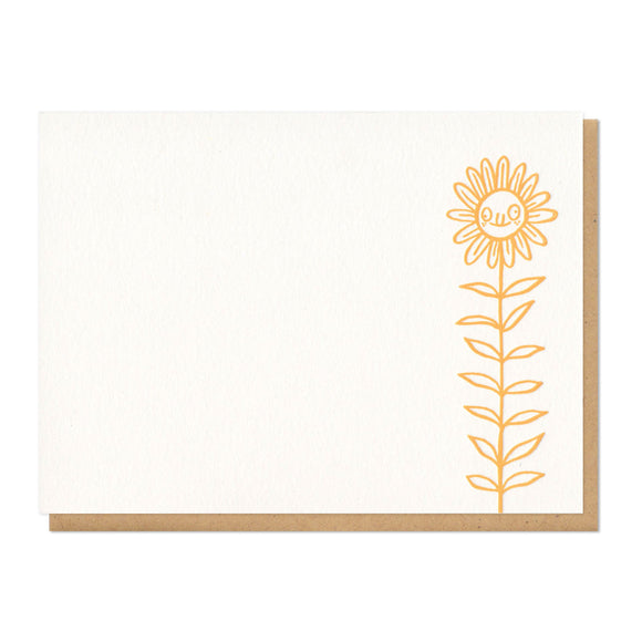 Derpy Flower Flat Notecard