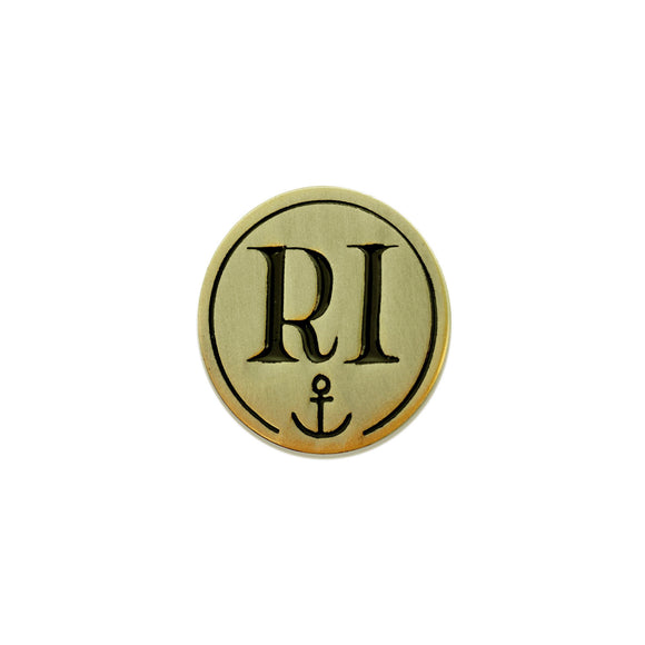 Rhode Island Anchor Enamel Pin