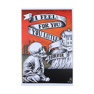 I Feel for You Little Horror Postcard