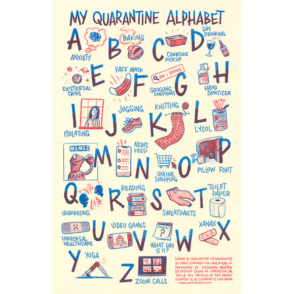 Quarantine Alphabet Print 2nd Edition
