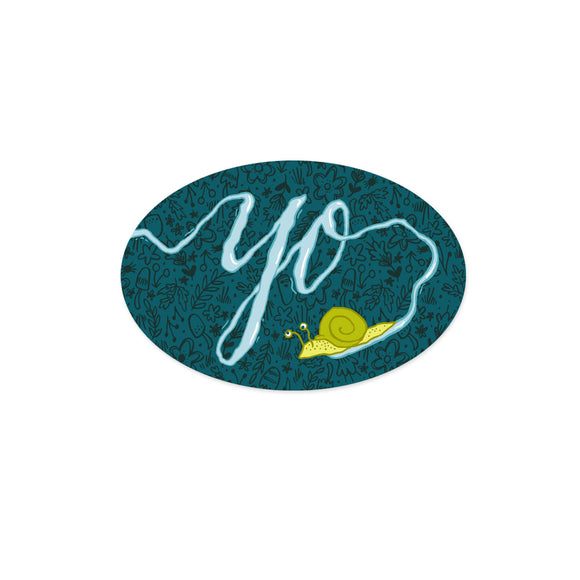 Yo Snail Sticker