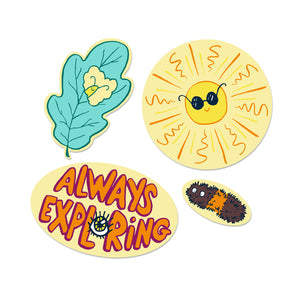 Always Exploring Sticker Pack of 4