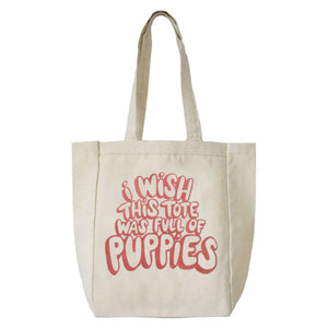 I Wish This Tote Was Full of Puppies Canvas Tote
