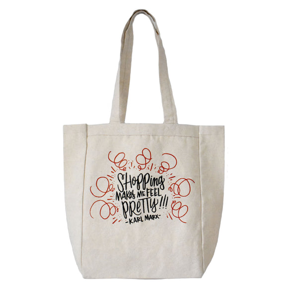Shopping Makes Me Feel Pretty - Karl Marx Canvas Tote