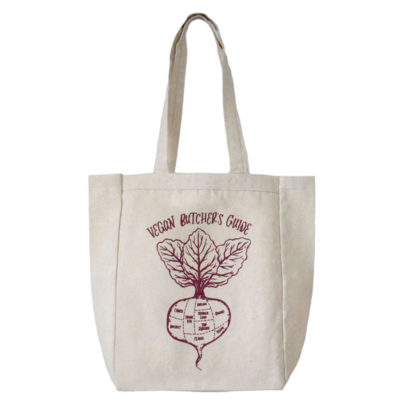 Vegan's Butcher Guide Canvas Tote