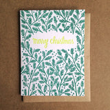 Merry Christmas Boughs Greeting Card