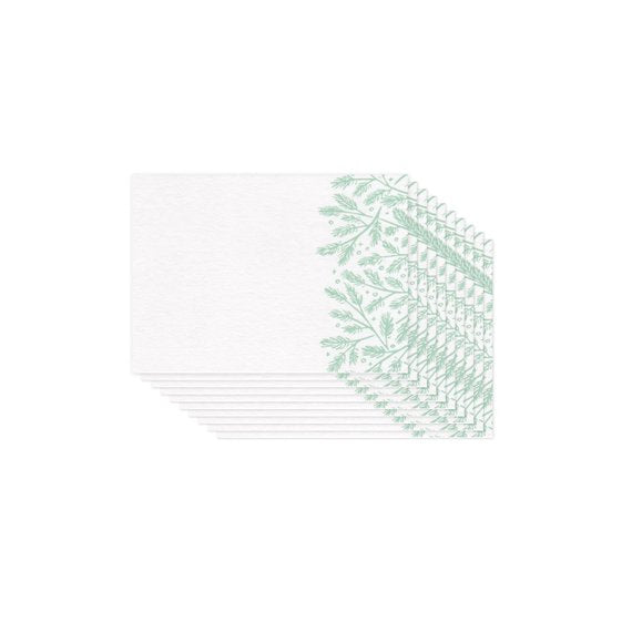 Pine Boughs Mini Cards Set of 10