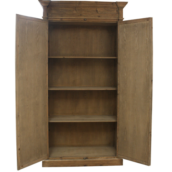Keats Armoire Natural Reclaimed Pine Armoire interior