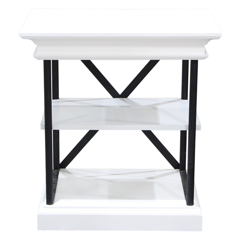 End Table White and Black