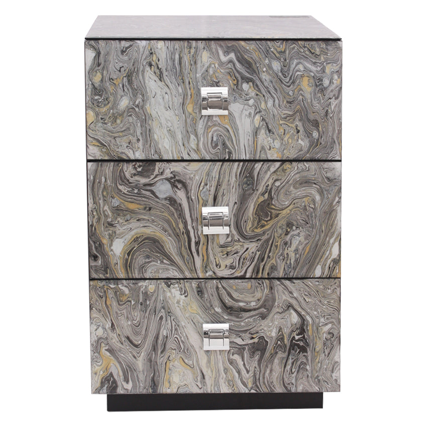 Marble Effect Night Stand