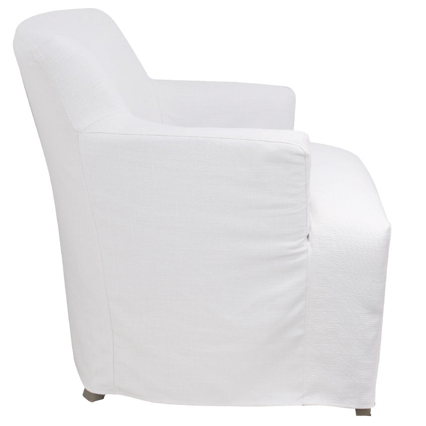 White Hampton Style Nantucket Armchair With Removable SlipCover
