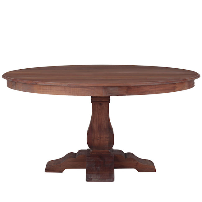 Country Cottage Round Dining Table Natural