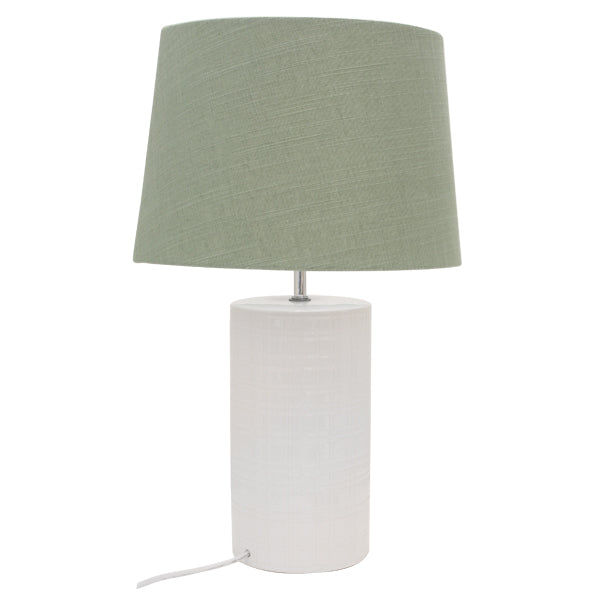 Channing Bedside Lamp w/Green Shade
