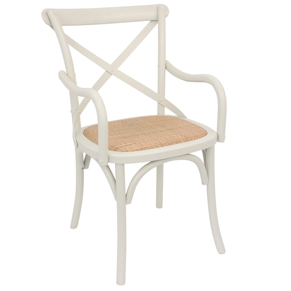 Set of Two Metropolitan's Classic White Cross Back Dining Chair