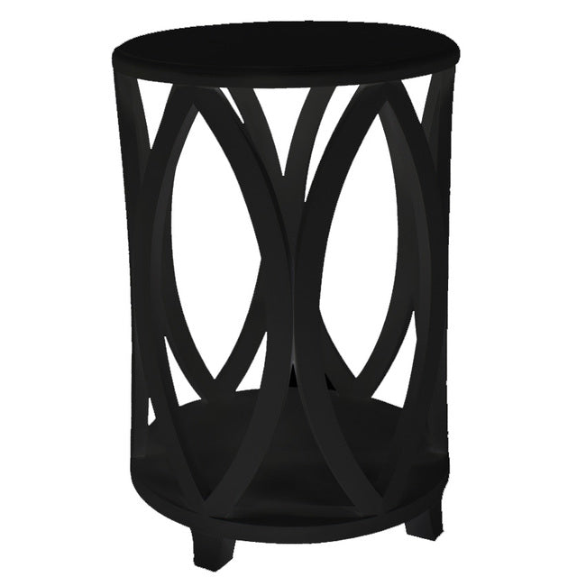 Black Bonnie Round Side Table