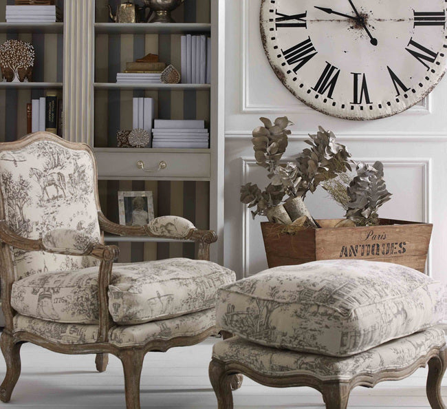 French Provincial Toile ArmChair