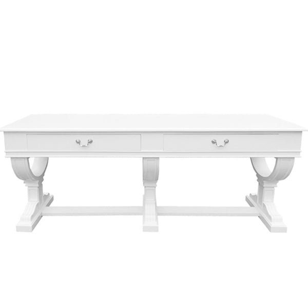 White Curtis Large Console Table